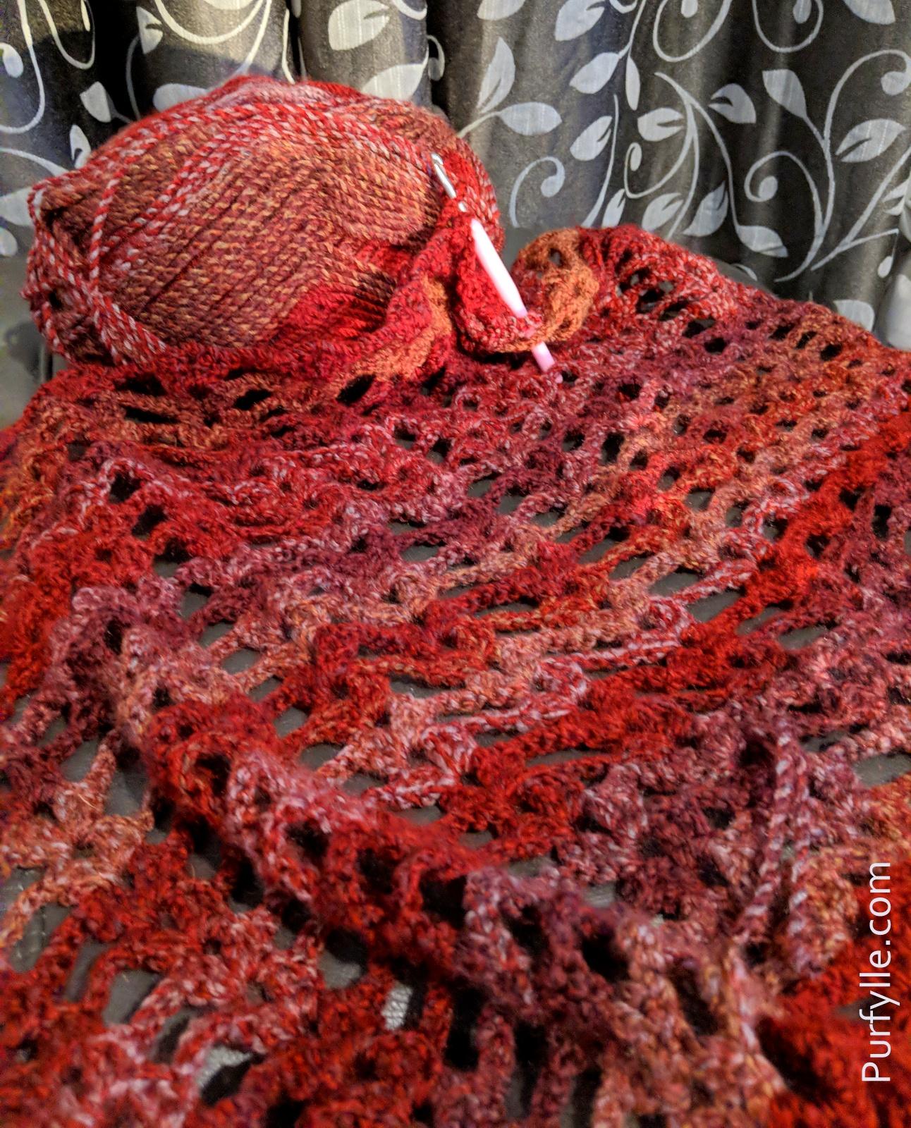 Super Fast Crochet Shawl Pattern