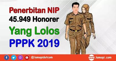 Penerbitan NIP 45.949 PPPK 2019