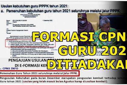 INFORMASI Terupdate! Rekrutmen CPNS 2021 Tak Ada Formasi Guru
