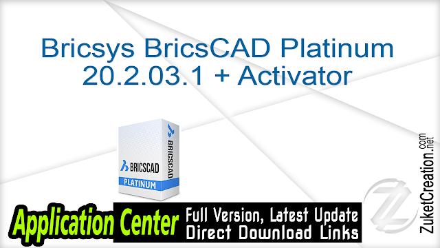 Bricsys BricsCAD Platinum 20.2.03.1 + Activator