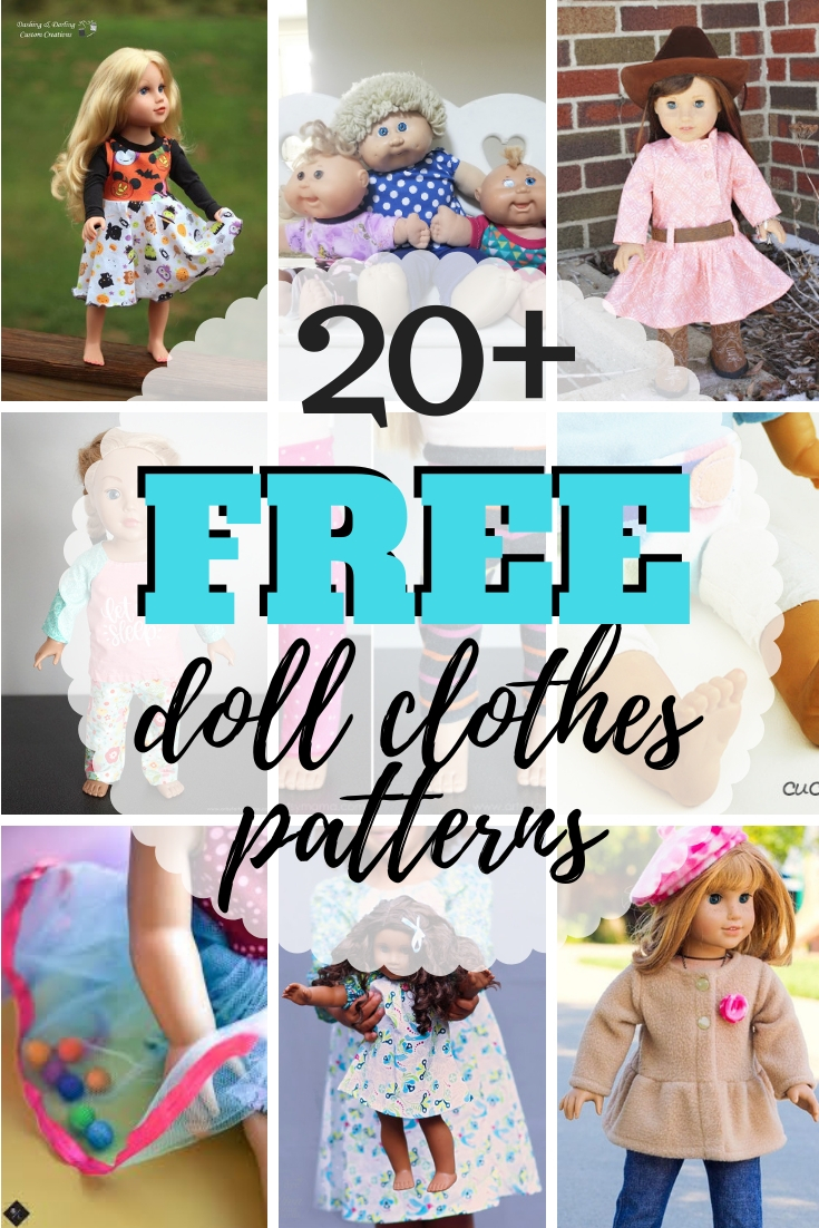 Doll Clothes Sewing Patterns : clothes, sewing, patterns, Clothes, Patterns, Types, Dolls, Simple