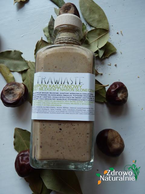 Trawiaste - Szampon do włosów z kasztanów, mirry i mleka słonecznikowego