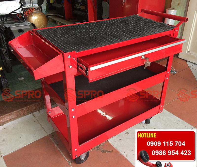 tủ đựng dụng cụ đồ nghề, thiết bị sửa xe máy 3 ngăn