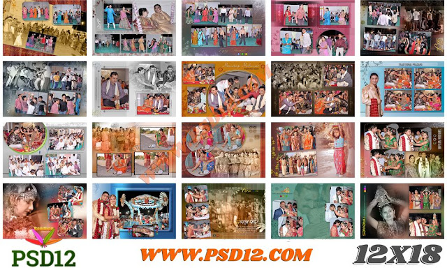 12x18 All Size Photo Album Big Big PSD Collection