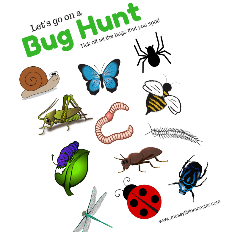 Sweet image within printable bugs