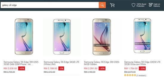 Harga Samsung Galaxy S6-S7 Edge di Lazada