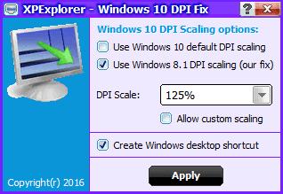 Windows10 DPI FIX