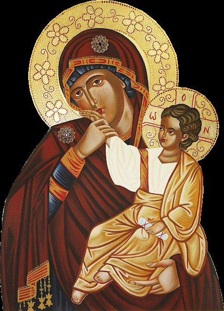 Nossa Senhora com o Menino Jesus PNG