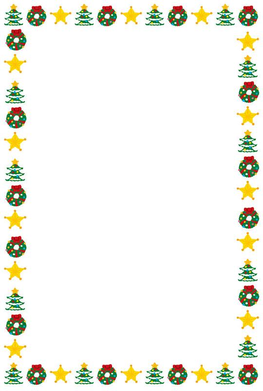 いろいろなクリスマスのイメージのフレーム かわいいフリー素材集