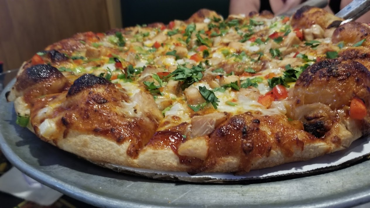 BBQ chicken pizza at Library Pub, West Bloomfield