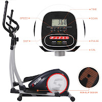 SNODE E20 Elliptical Trainer's digital LCD console, image