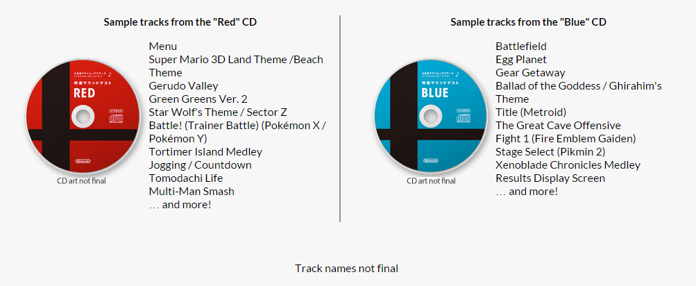 Super Smash Bros  CD Soundtrack Songs