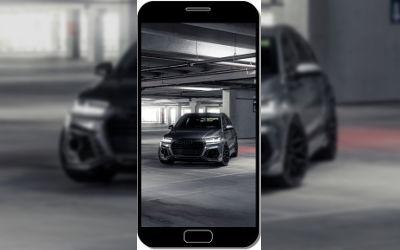 Audi Noire Chrome - Fond d'Écran en QHD pour Mobile
