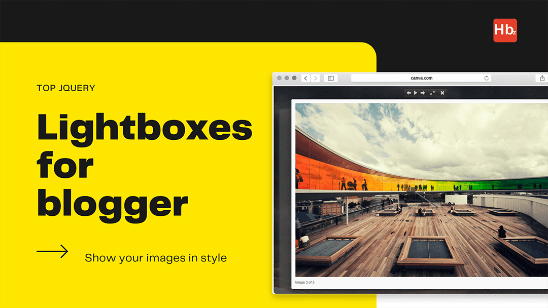 custom stylish responsive jQuery lightbox for blogger