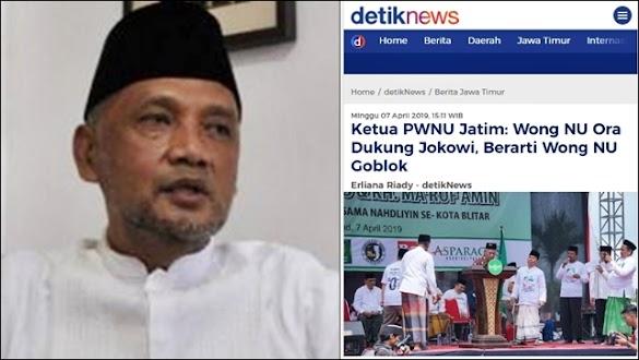 Ikut Kampanyekan Jokowi, Cucu Pendiri NU Minta Ketua PWNU Jatim Mundur