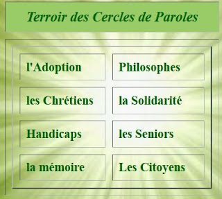 Afficher le bloc cercles de paroles