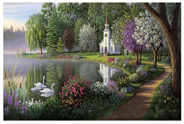 Tranh son dau so hoa o Pho Nguyen Lam