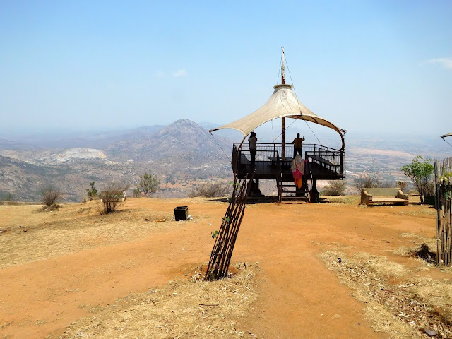 Shaded viewing points on top of Nandi Hills