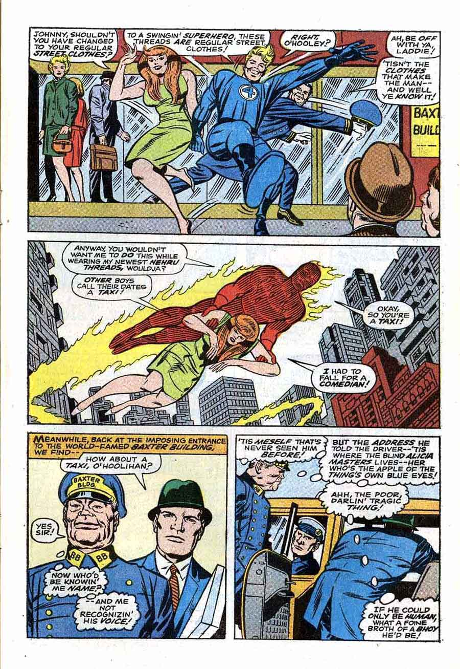 Fantastc Four v1 #79 marvel 1960s silver age comic book page art by Jack Kirby