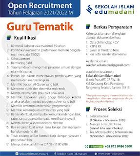 Lowongan Pekerjaan Guru Tematik - Pamulang Tangerang Selatan