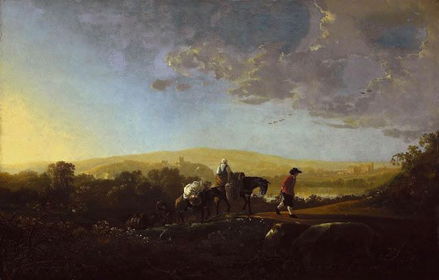 Альберт Кёйп - Путешественники в холмистом пейзаже. ок1650