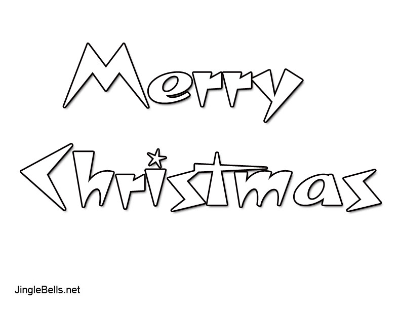 merry christmas bubble writing