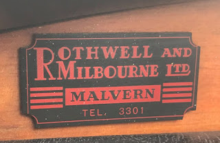 Rothwell and Milbourne Ltd dashboard plaque