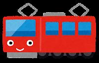 電車のキャラクターのイラスト(赤)