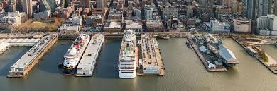 Manhattan Cruise Terminal on a Busy day this past Saturday No ships - Sunday Norwegian Bliss and Anthem of the Seas