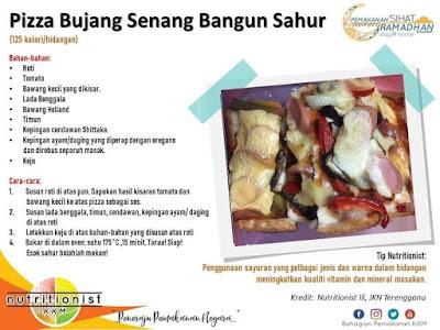 menu berbuka puasa dan sahur simple pizza simple