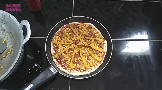 Cara Membuat Pizza Teflon - Dapur Nadda 14