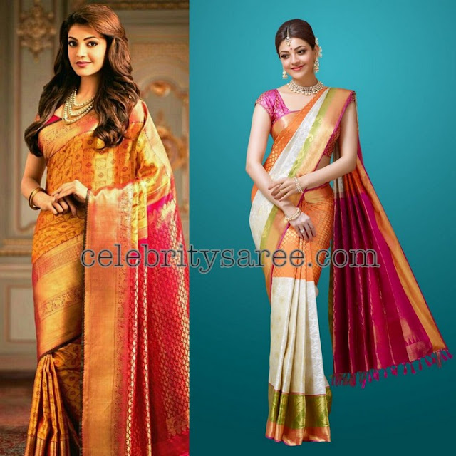 Kajal Agarwal in Simple Silk Sarees