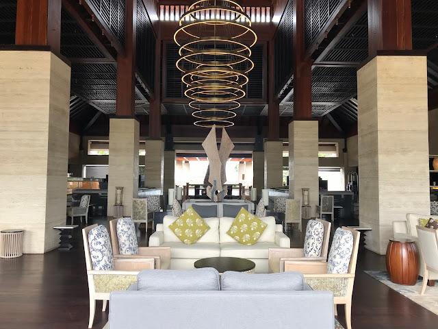 the main lobby at Conrad Bali Hotel, Benoa, Bali, Indonesia