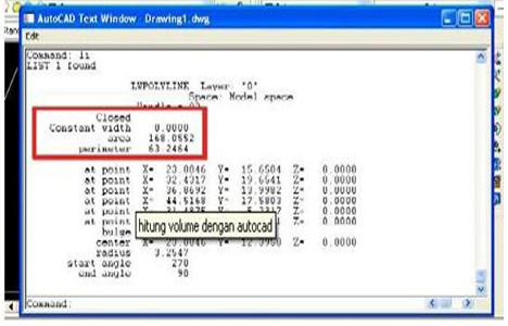Design Calculation Menghitung Volume Pekerjaan Dengan Autocad
