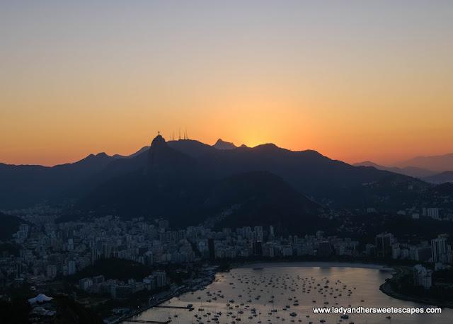 Sunset in Sugarloaf Rio de Janeiro