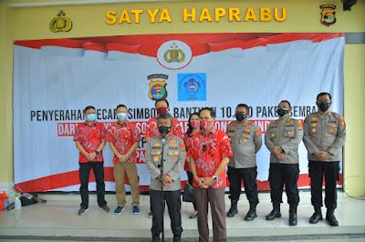 Polda Lampung Terima 10.000 Paket Sembako dari PSMTI untuk Disalurkan Kepada Masyarakat