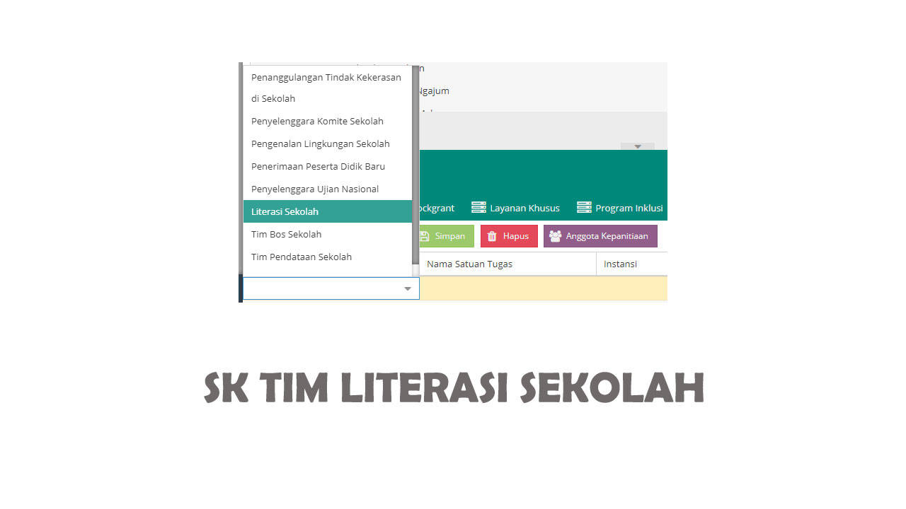 SK Tim Literasi Sekolah