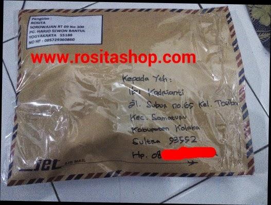 bukti pengiriman rositashop ke Kolaka