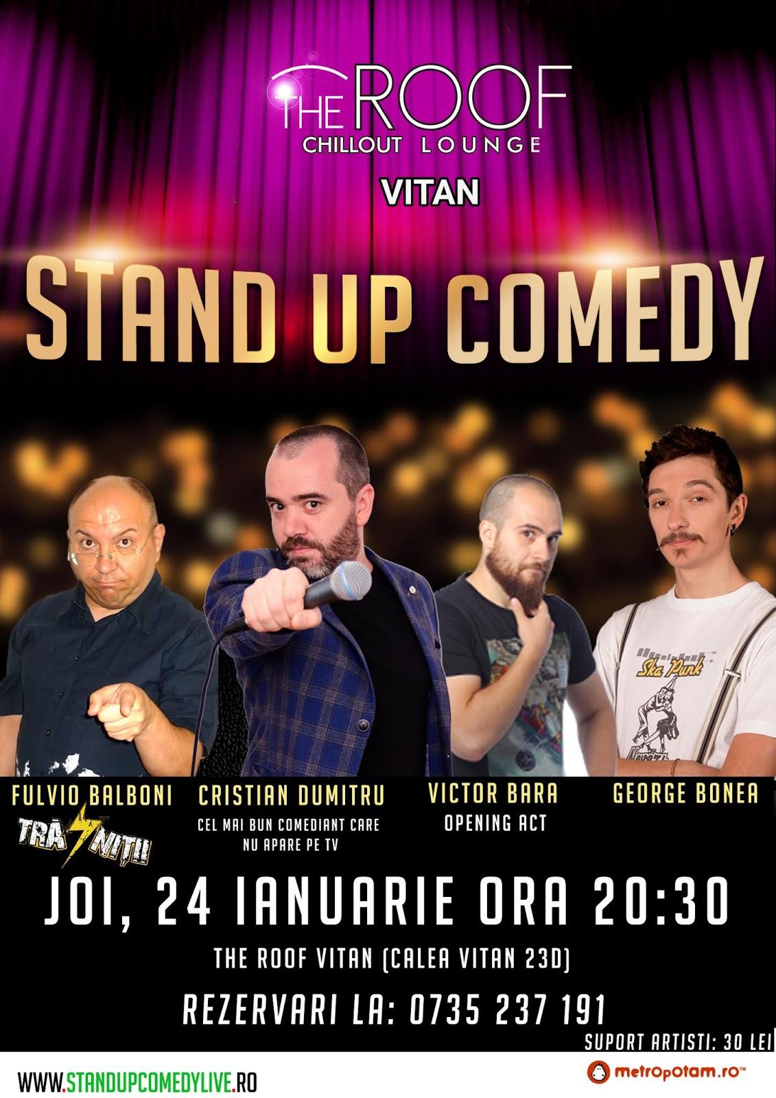 Stand-Up Comedy Joi seara in Bucuresti (24 ianuarie 2019)