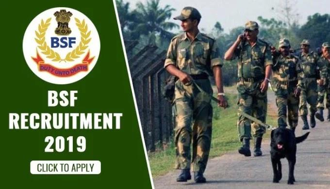 BSF Head Constable Recruitment 2019