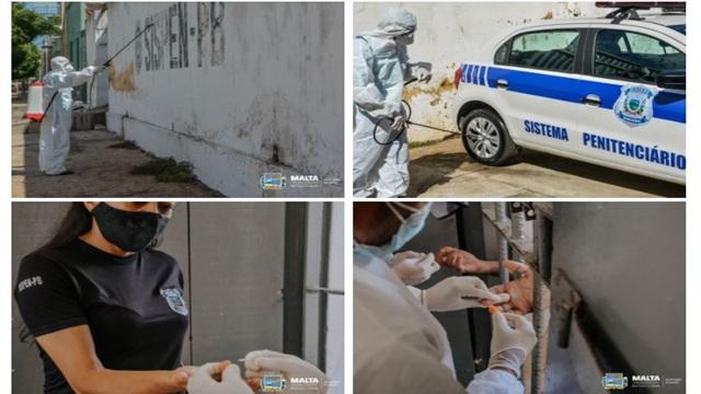 Em Malta, Cadeia pública passa por desinfecção, detentos e funcionários são testados para COVID-19