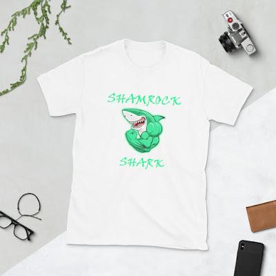 Happy, Shamrock Shark Shirt, Shamrock Shark Tee, Shamrock Shark, Green Beer Tshirt