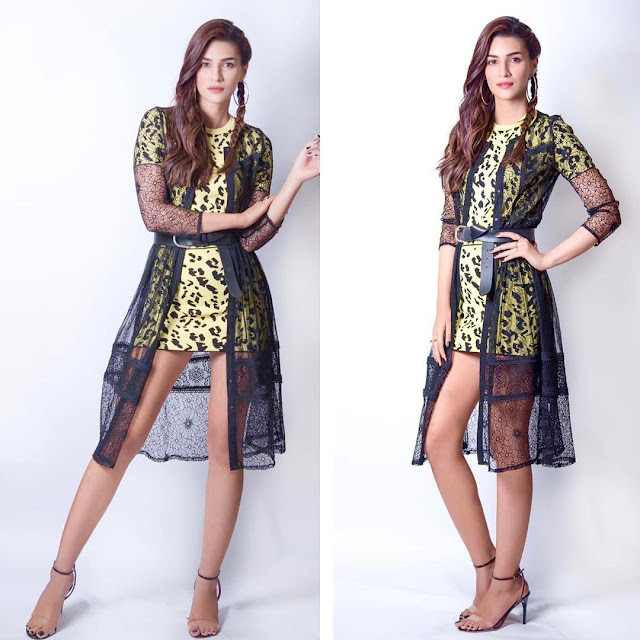 Bollywood Actress Kriti Sanon Latest Clicks Navel Queens