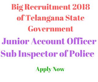Big Recruitment 2018 of Telangana State Government