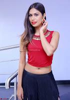 Nishi Gandha in Beautiful Red Crop Top ~  Exclusive 011.jpg