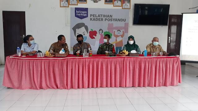 Waka Polsek Hadiri Pelatihan Kader Posyandu Tingkat Kecamatan Pulau Hanaut