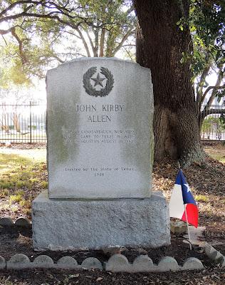 John Kirby Allen grave stone