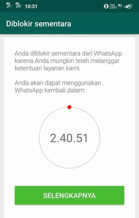Cara Mengatasi Whatsapp Diblokir Sementara Serbacara Com Technology For Business