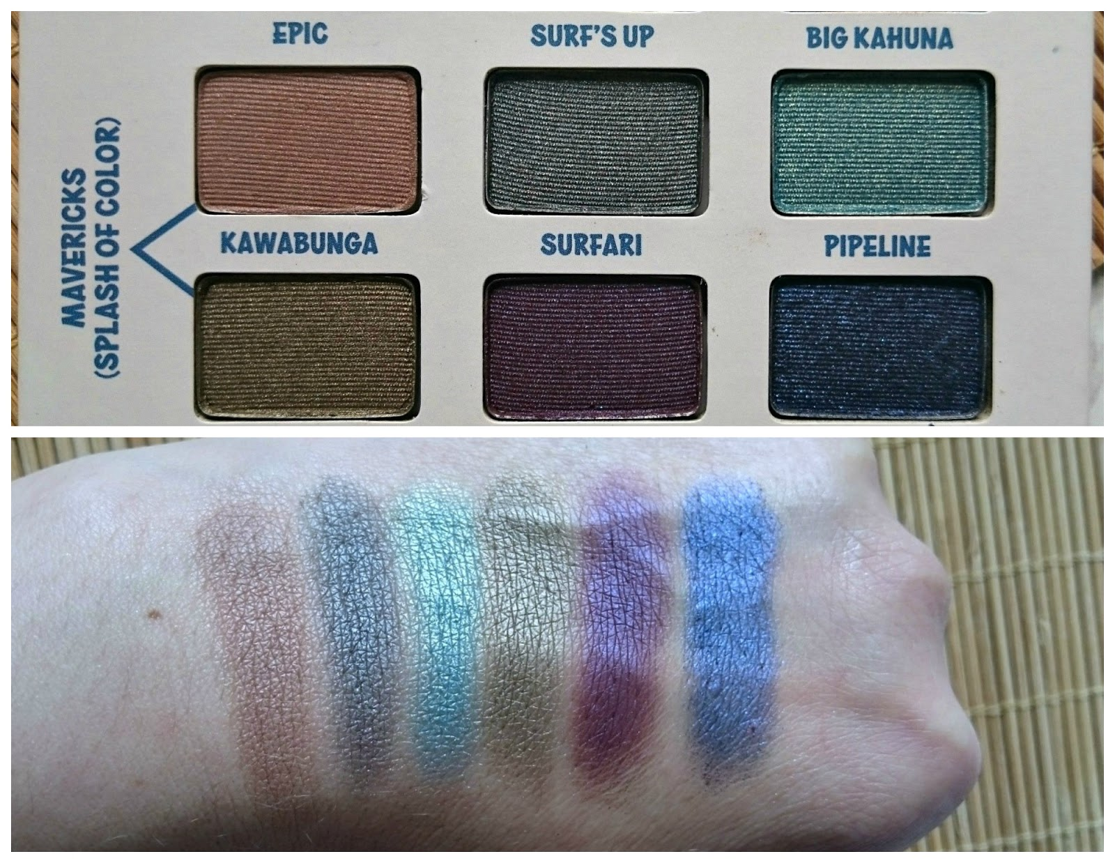 The Balm Balmsai palette swatches
