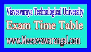 Visvesvaraya Technological University MCA CBCS (2016 Scheme) Jan 2016 Exam Time Table